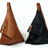Light Brown or Black and Brown Rain Drop Purse