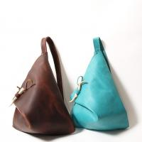 Leather  Triangle Street Bag